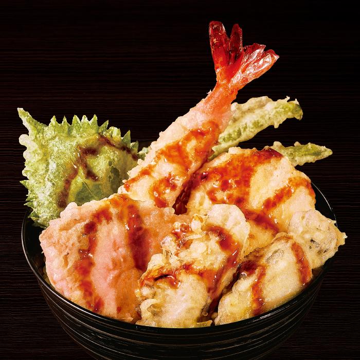 冬の豪華海鮮天丼